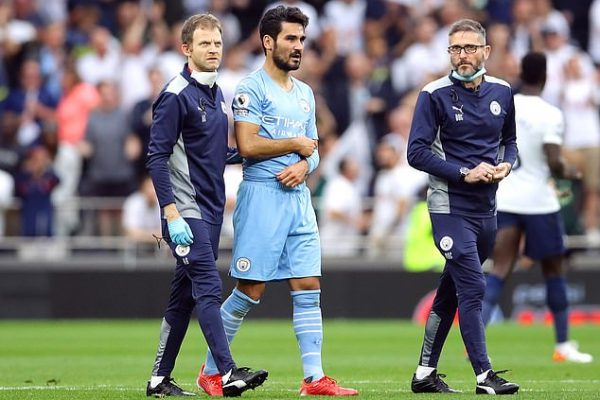 """""""Pep"""" accepts """"Gundogan"""" with a shoulder pain, hope for tomorrow's results"""